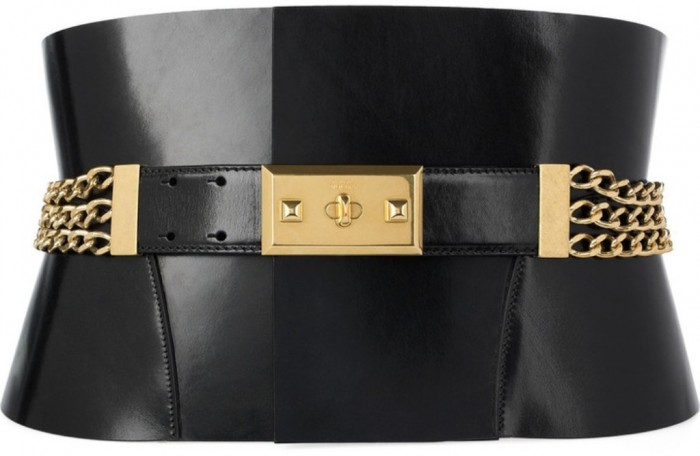 Alexander_McQueen_chain-embellished_bridle_leather_belt 20+ Stylish Belt Trend Ideas for Fall & Winter 2020