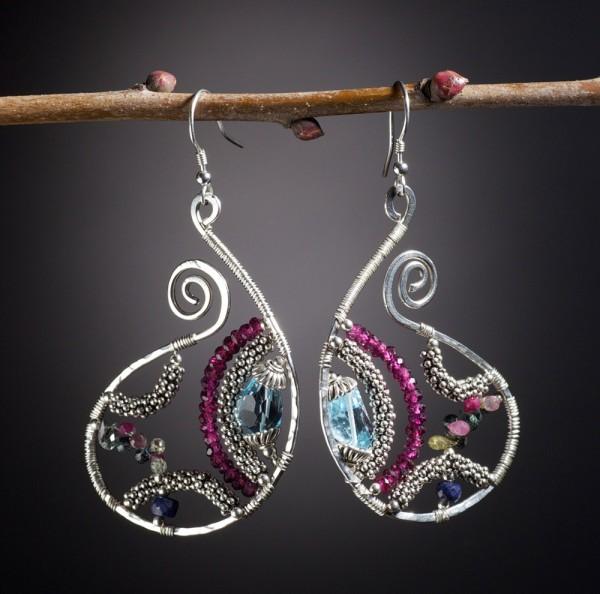Argentium-Silver-Blue-Topaz-Sapphires-Burellite-Garnets-D What Do You Know About Argentium Sterling Silver?