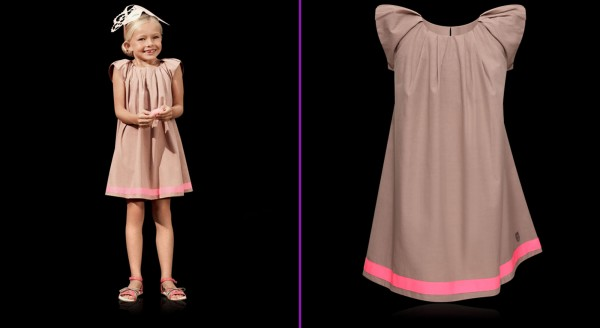 Baby-Dior-Collection-of-Nutmeg-and-Pink-Cotton-Poplin-Dress-with-Grosgrain-Detail-as-Summer-Collection-for-Girls 49+ Best Baby Dior Cloth Trends in 2018