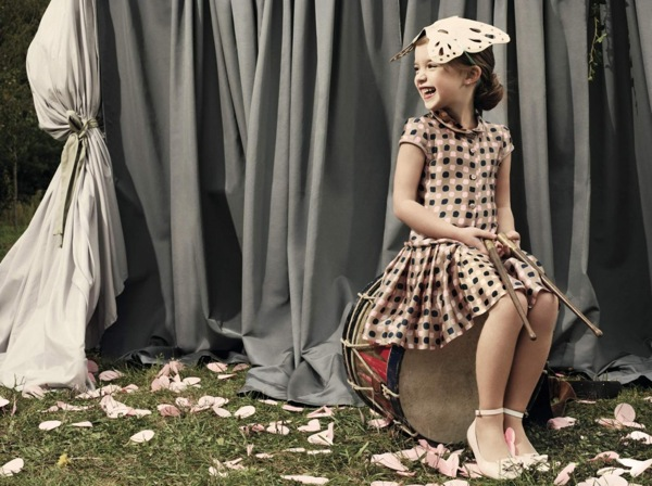 Baby-Dior-Summer-2012-Contrast-Spots-in-Tan-Silk 49+ Stylish Baby Dior Cloth Trends in 2020