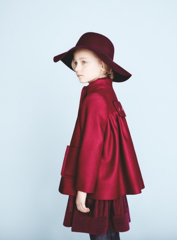 Baby-Dior-winter-2012-cherry-red-couture-cut-wool-jacket-for-girls 49+ Stylish Baby Dior Cloth Trends in 2020