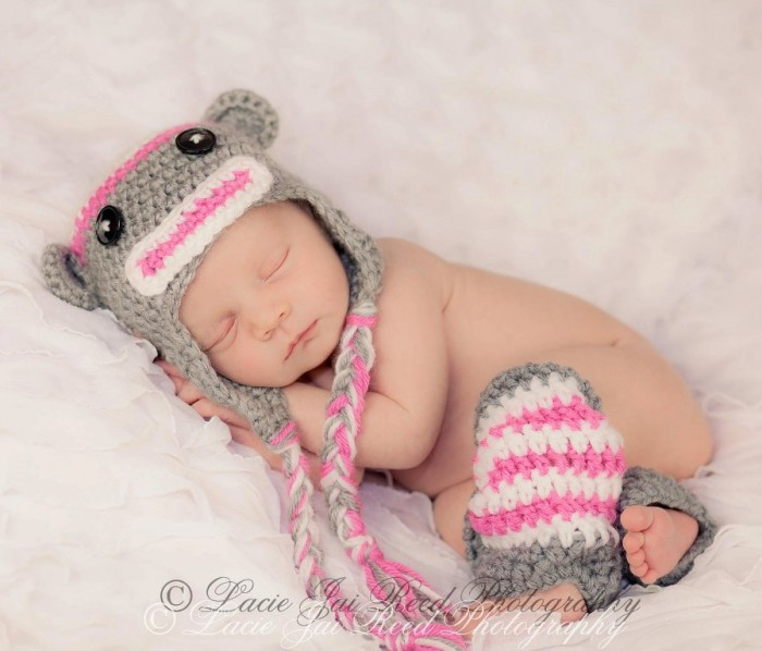 Baby-crochet-hat-crochet-leg-warmers-girls-hat-pink-grey-and 25 Breathtaking & Stunning Collection of Crochet Clothes for Newborn Babies