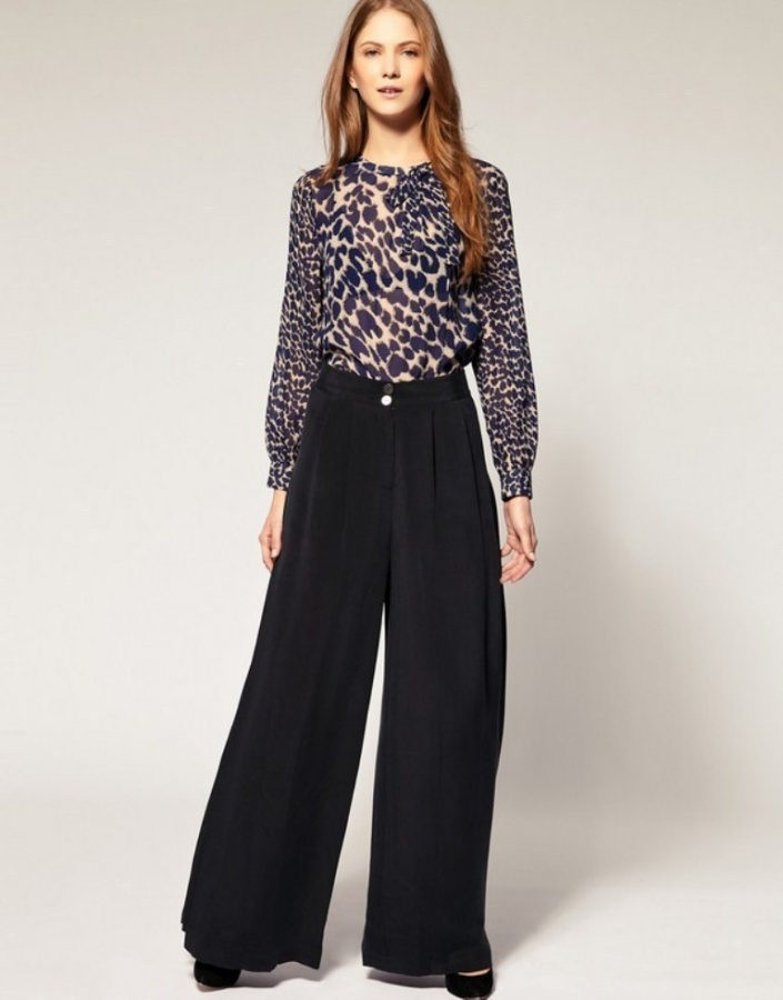 Black-Palazzo-Pants-Fashion-Trend-2014 Latest & Hottest Fashion Trends for Spring 2019