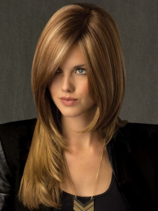 Brown Sugar Highlights For Women Dark Brown Hairs