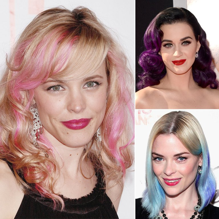 Celebrities-Bright-Coloured-Hair1 20 Hottest Creative Ideas for Hair Salons in 2020