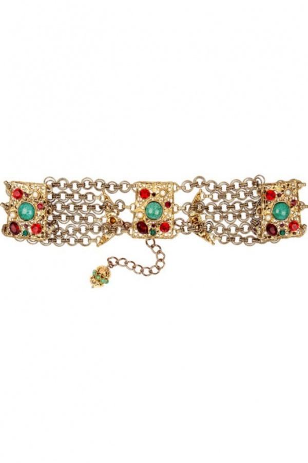 Dolce-Gabbana-Crystal-embellished-brass-belt 20+ Stylish Belt Trend Ideas for Fall & Winter 2020