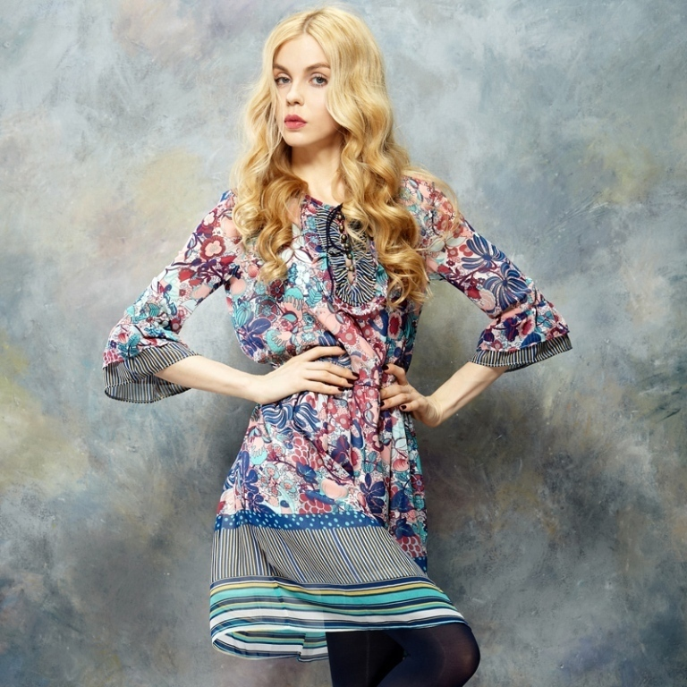 ELF-SACK-brand-teenage-girls-casual-flower-print-dresses-new-fashion-2014-winter-for-new Latest & Hottest Fashion Trends for Spring 2019