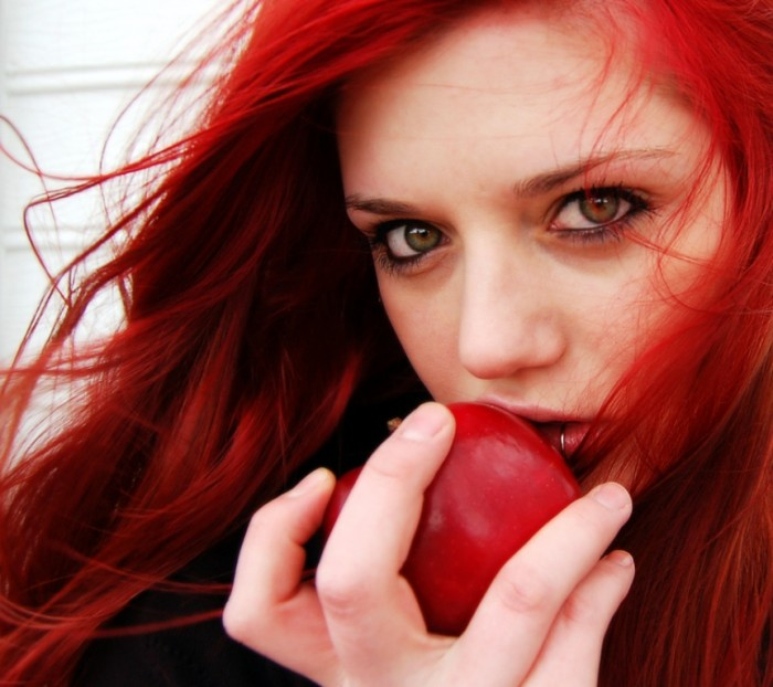 Fiery-Red-Hair-Style-red-apple1 20 Hottest Creative Ideas for Hair Salons
