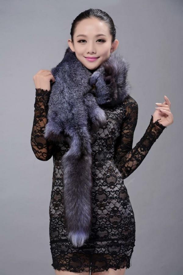 Fox-fur-scarf-fashion-women-man-Whole-fox-fur-shawl-winter-warm-tippet-neck-wrap-Silverblue-l5 Best 10 Scarf Trend Forecast for Fall & Winter 2019