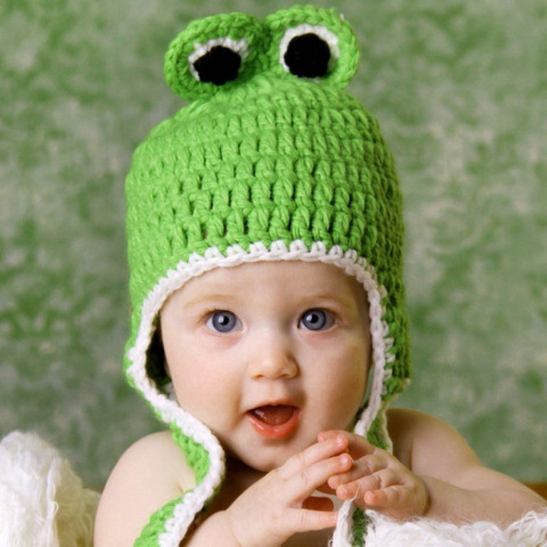 Froggy_3__recolored_large 20 Marvelous & Catchy Crochet Hats for Newborn babies