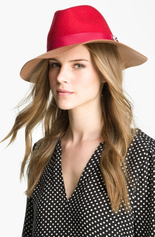 Juicy-Couture-colorblocked-floppy-fedora-on-sale-for-38.90-nordies Top 15 Hat Trend Forecast for Fall & Winter 2020
