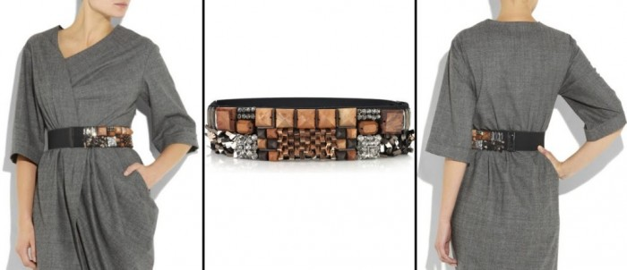 LANVIN-embellished-felt-belt 20+ Best Chosen Belt Trend Forecast for Fall & Winter 2019