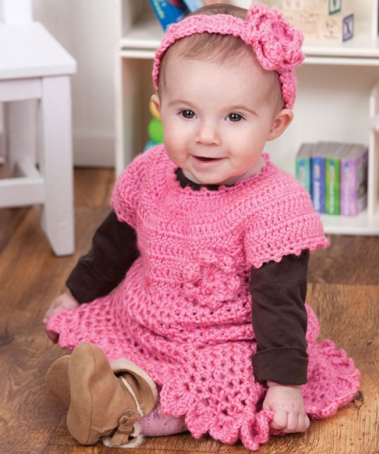LW2900 25 Magnificent & Dazzling Collection of Crochet Dresses for Baby Girls