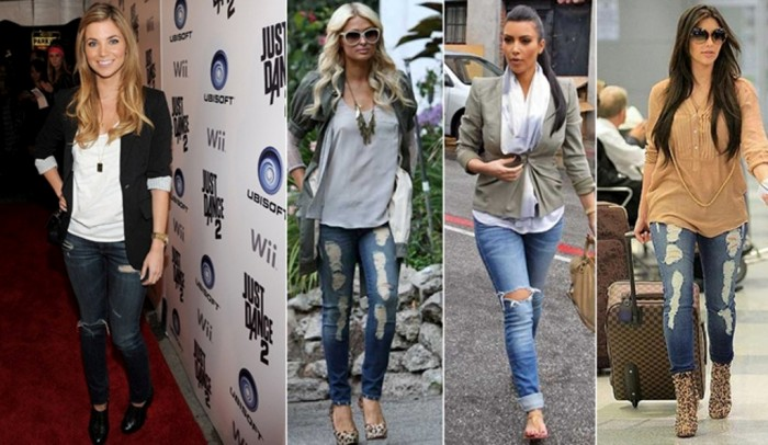 Latest-fashion-for-torn-jeans-in-2014 27+ Latest & Hottest Jeans Fashion Trends Coming for 2019