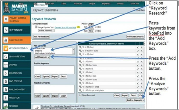 MarketSamuraiKeywordResearch Generate More Traffic & Rank #1 with Market Samurai