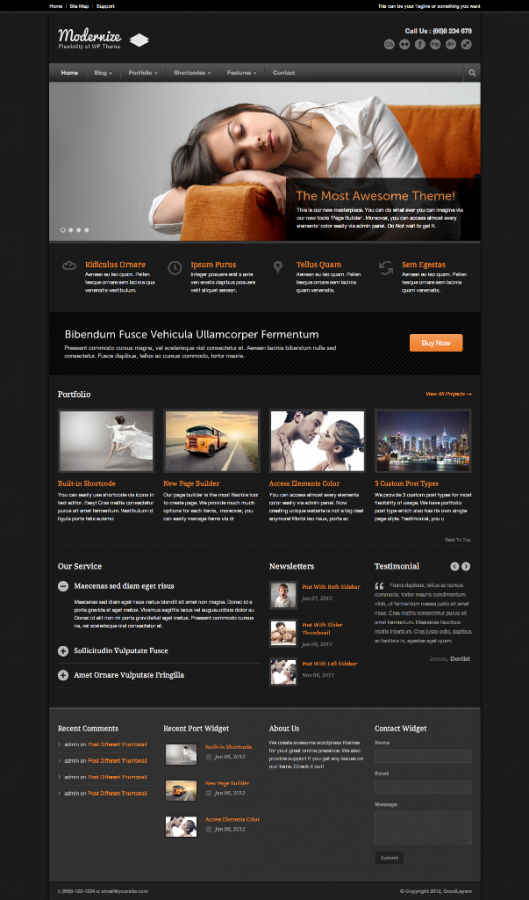 Modernize-Flexibility-of-Wordpress-index-page-with-color-changed Top 10 ThemeForest WordPress Themes