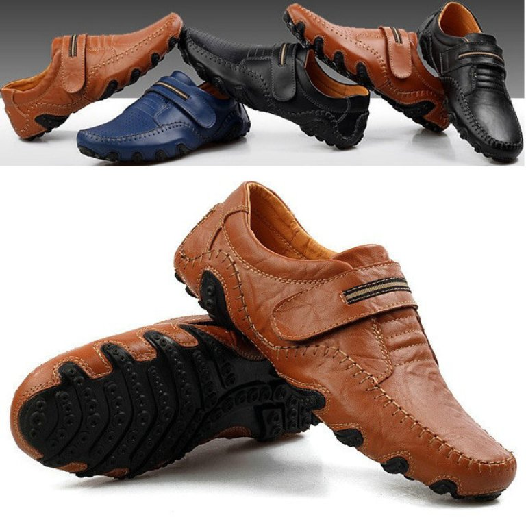 New-2014-Fashion-Octopus-Genuine-Leather-Breathable-Flats-Men-Summer-Shoes-Mens-Sneakers-Driving-Shoes-Free 2017 Fashion Trends for Men's Shoes