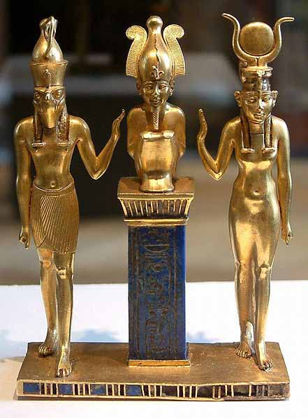 OsirisHorusisisGold1 39 Most Famous Pharaohs Gold Statues