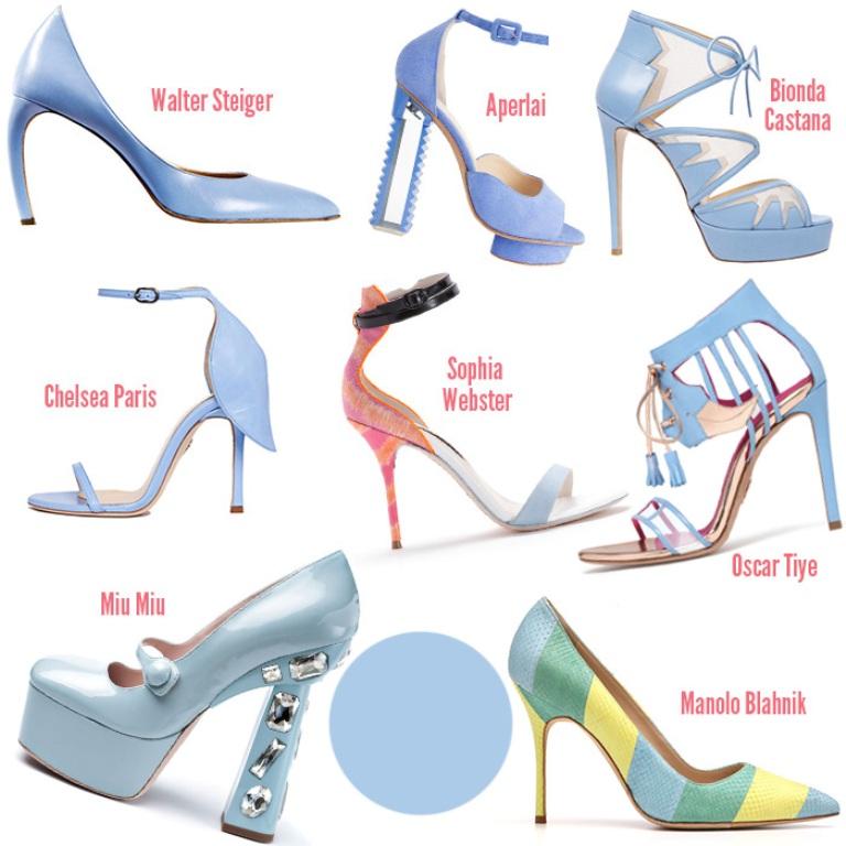 Placid-blue-footwear-Spring-2014-trends-shoes 20+ Hottest Shoe Trends for Women in Next Spring & Summer