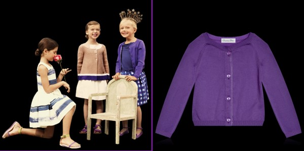 Purple-Fine-Cotton-Tricot-Knit-Cardigan-as-Baby-Dior-Collection-for-Girls- 49+ Stylish Baby Dior Cloth Trends in 2020