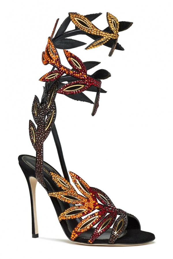 Sergio-Rossi-Crystal-Vine-Ankle-Wrap-Sandals-Spring-2014 20+ Hottest Shoe Trends for Women in Next Spring & Summer