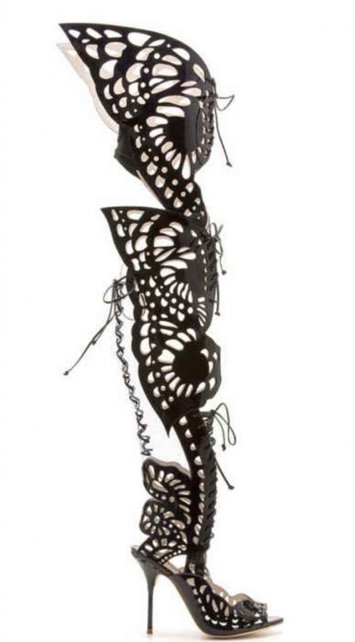 Sophia-Webster-Over-The-Knee-Lace-Up-Pumps-Spring-2014-2 Top 10 Hottest Women's Boot Trends