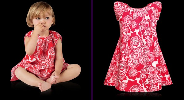 Spring-Summer-Collection-by-Baby-Dior-of-Red-Printed-Calico-Dress 49+ Stylish Baby Dior Cloth Trends in 2020