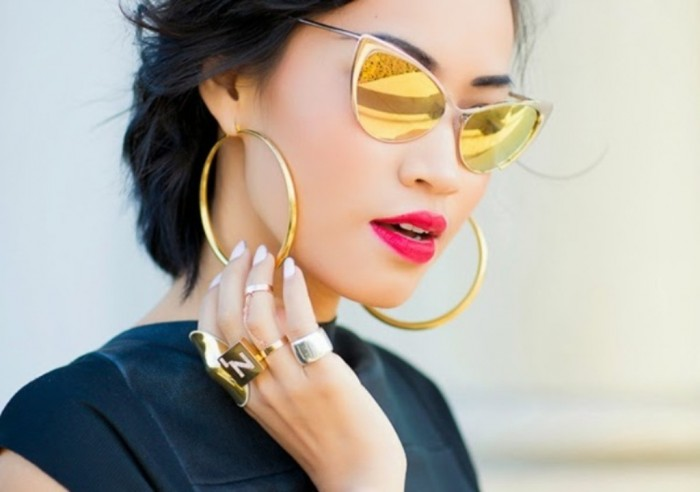 Tom-ford-Gold-Cat-Eye-Sunglasses-2014-01- 2014 Latest Hot Trends in Women's Sunglasses