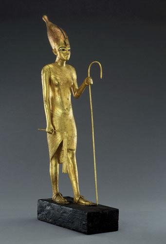 TutankhamunExUpperEgyptStat 39 Most Famous Pharaohs Gold Statues