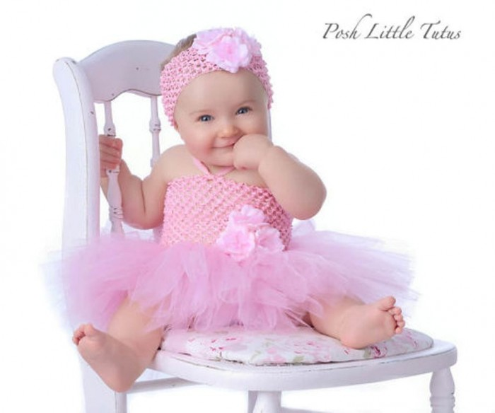 TutuPreciousPinkFlowerBabyCrochetDress1 25 Magnificent & Dazzling Collection of Crochet Dresses for Baby Girls