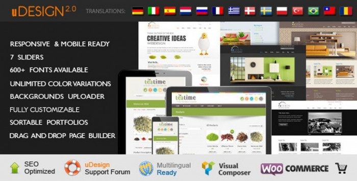 U-Design-WordPress-Theme Top 10 ThemeForest WordPress Themes