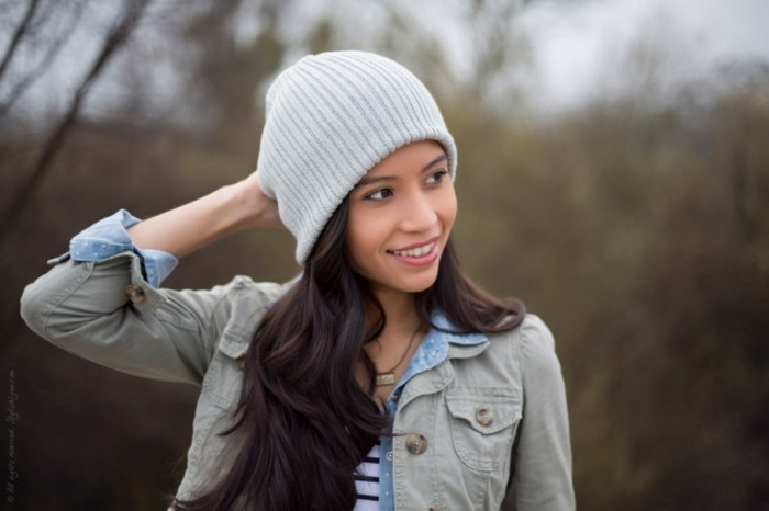 Wearing-Gray-Beanie Top 15 Hat Trend Forecast for Fall & Winter 2020