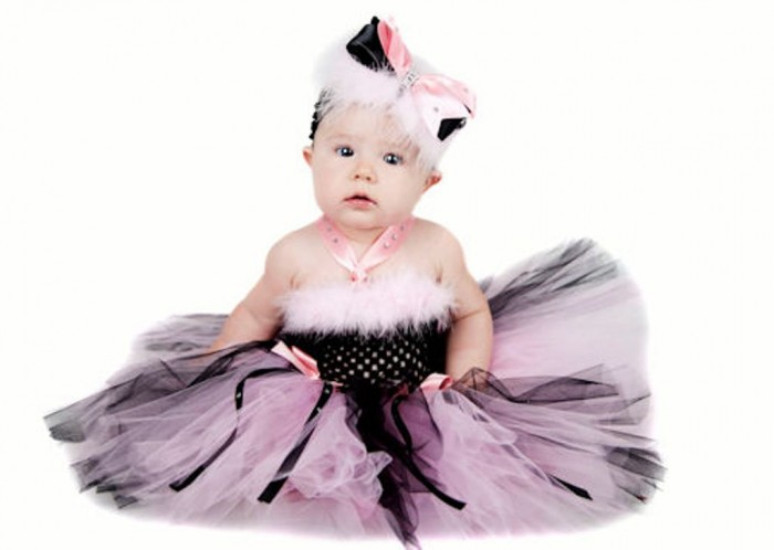 a_ritzyglitzyholidaypinkblacktutudress 25 Magnificent & Dazzling Collection of Crochet Dresses for Baby Girls