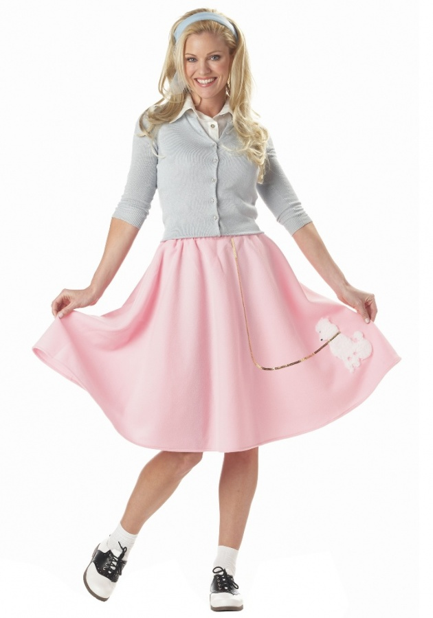 adult-pink-poodle-skirt1 Top 15 Most Common Trends & Fads in 1950's