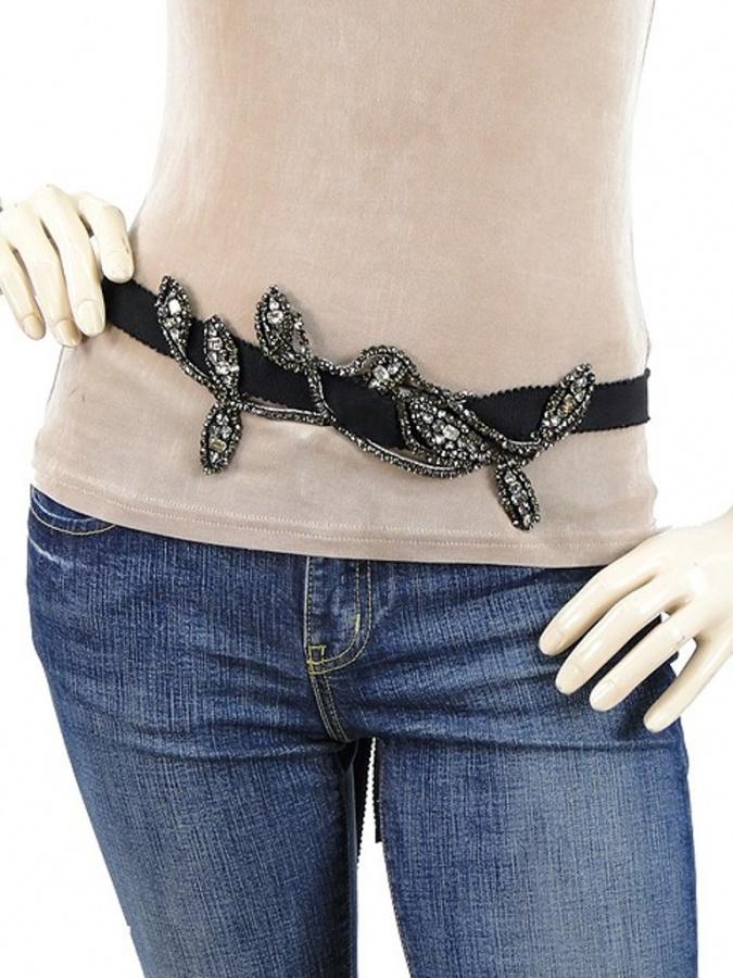 alessandro_dell_acqua_belt_-_black_grosgrain_crystal_embellished_belt_-_ac463_2 20+ Stylish Belt Trend Ideas for Fall & Winter 2020
