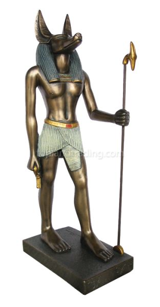 anubis-standing-TL-1142 39 Most Famous Pharaohs Gold Statues