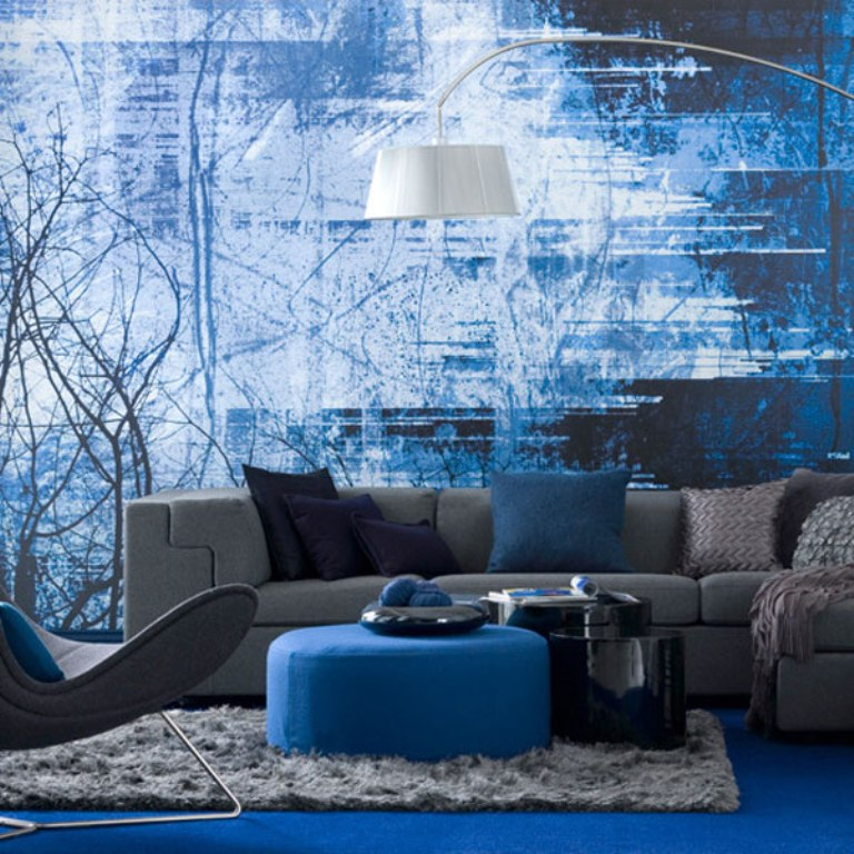 dazzling-blue-modern-room-4 37+ Newest Home Interior Color Trends for 2019