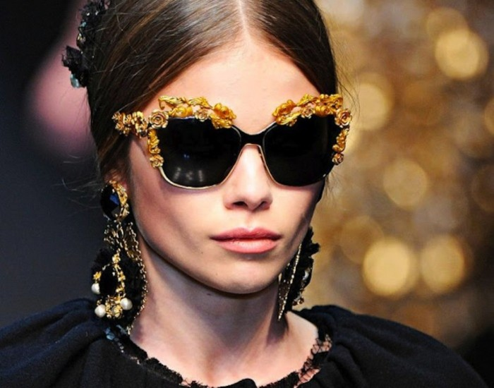 dolce_gabbana_sunglasses_earrings 2014 Latest Hot Trends in Women's Sunglasses