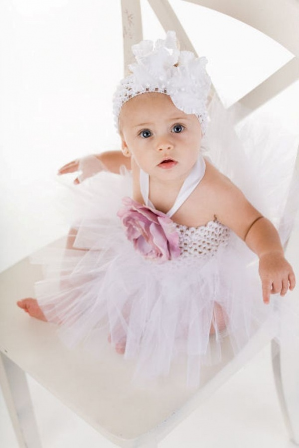fancyroselavendertutudress3 25 Magnificent & Dazzling Collection of Crochet Dresses for Baby Girls