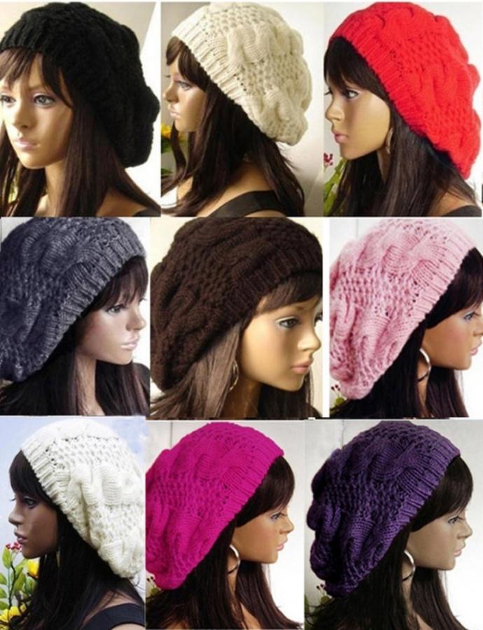 font-b-Crochet-b-font-Beret-Braided-Baggy-font-b-Beanie-b-font-Hat-Ski Top 15 Hat Trend Forecast for Fall & Winter 2020