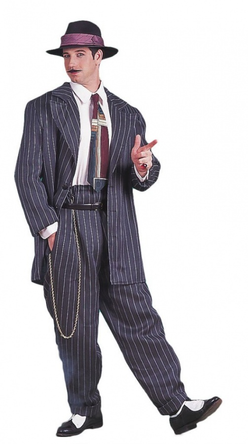 grey-pinstripe-zoot-suit The 20 Most Common Fashion Trends & Fads in 1920's