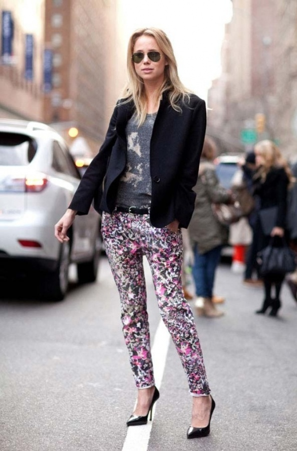 how-to-style-printed-pants-summer-2014-black Latest & Hottest Fashion Trends for Spring 2019