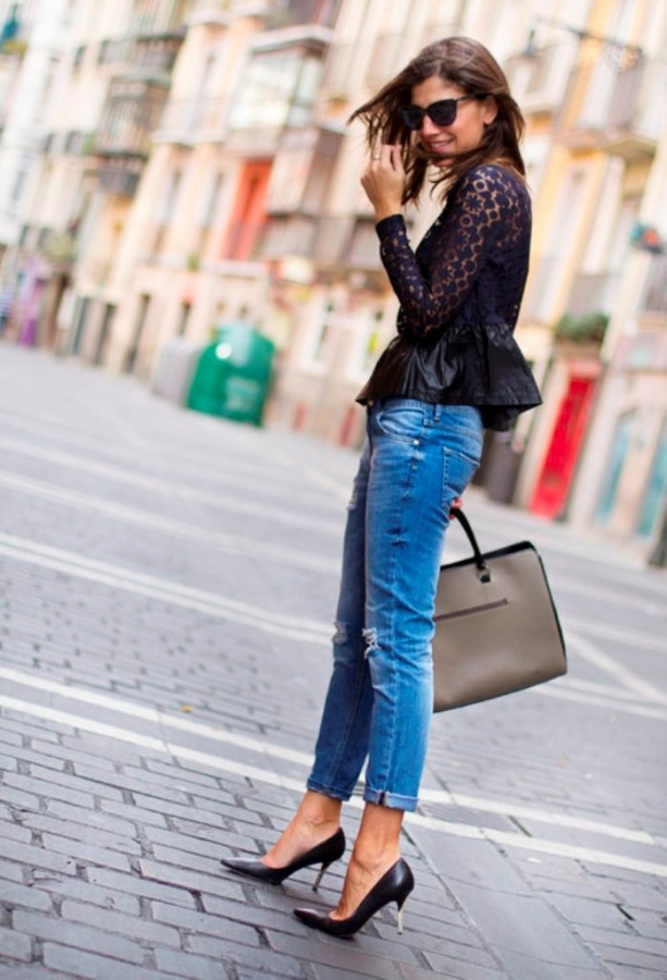 jeans-fashion-trends-in-spring-2014-4 27+ Latest & Hottest Jeans Fashion Trends Coming for 2019