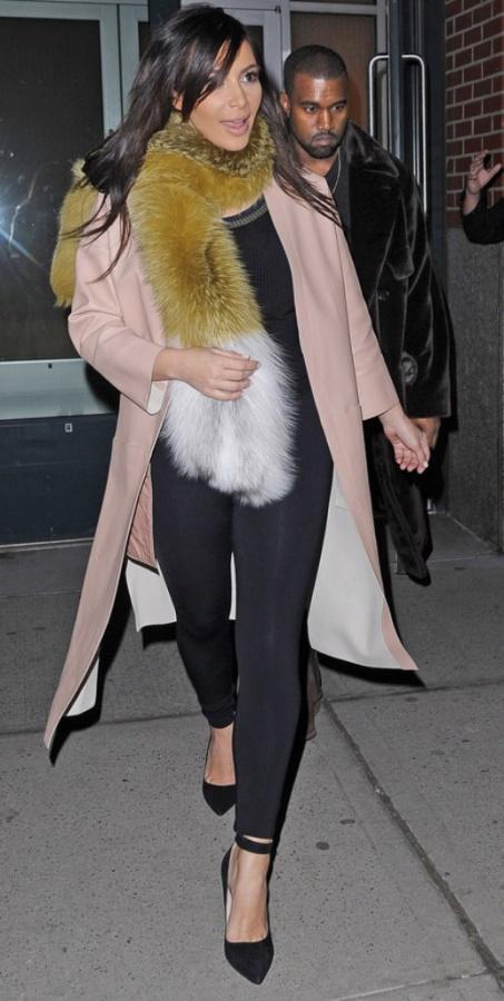 kim-kardashian-wearing-fur-fox-fur-scarf-stole-celebrities-wearing-fur Best 10 Scarf Trend Forecast for Fall & Winter 2019
