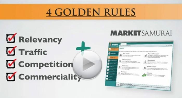 market-samurai-golden-rules Generate More Traffic & Rank #1 with Market Samurai