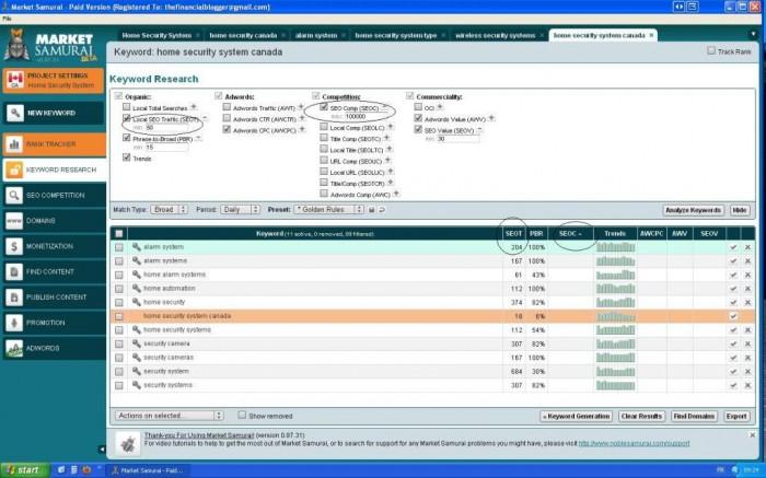 market-samurai-screenshot5 Generate More Traffic & Rank #1 with Market Samurai