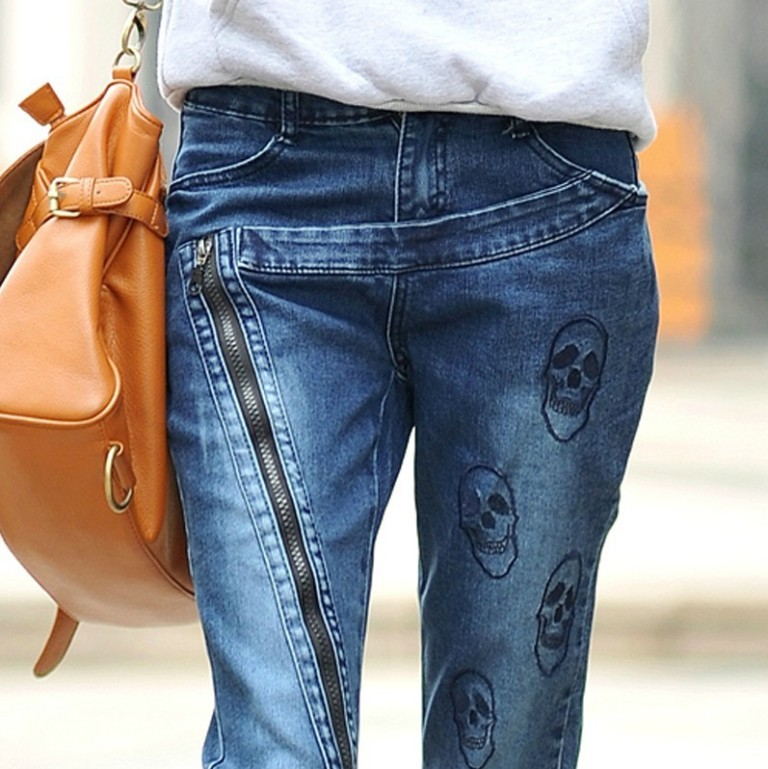 new-2014-Arrival-Free-Shipping-big-size-Fashion-Denim-Skinny-Pencil-Pants-font-b-Blue-b 27+ Latest & Hottest Jeans Fashion Trends Coming