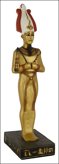 osirus-4 39 Most Famous Pharaohs Gold Statues