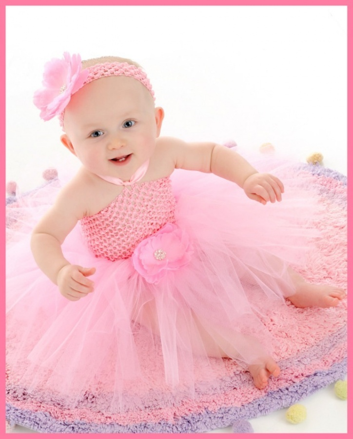 pinktutudress3 25 Magnificent & Dazzling Collection of Crochet Dresses for Baby Girls