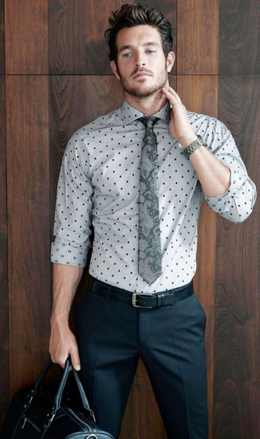 polka-dot-men-outfits-for-work-2 Best 18 Men's Fashion Trends Expected in 2019